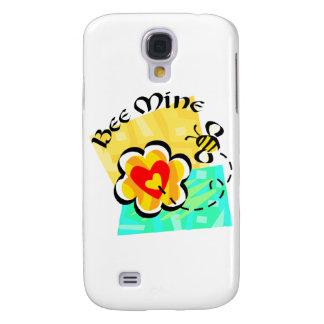Bee Mine Bumblebee Heart Flower Samsung Galaxy S4 Cases