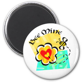 Bee Mine Bumblebee Heart Flower Magnet