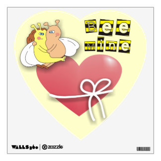 Bee Mine Cute Bees in Love Wall Decals