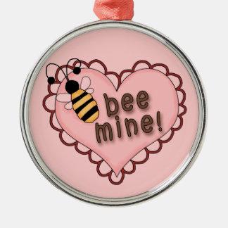 Bee Mine Heart Metal Ornament