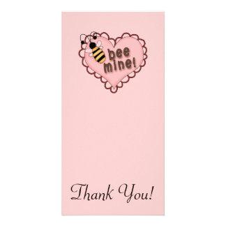 Bee Mine Heart Photo Card Template