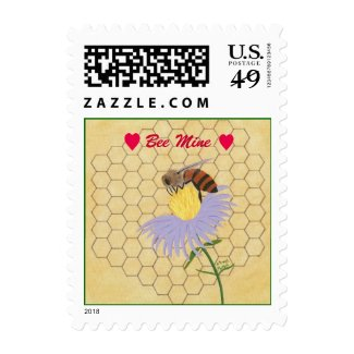 Bee Mine, Honey bee, Valentine Stamps