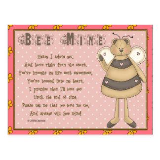 Bee Mine Keepsake Card Postcard