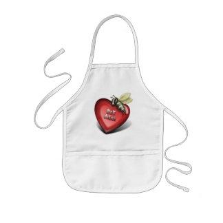 bee mine kids' apron