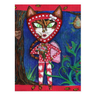 Bee Mine Kitty Fine Art Postcard