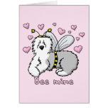 Bee Mine Old English Sheepdog Card