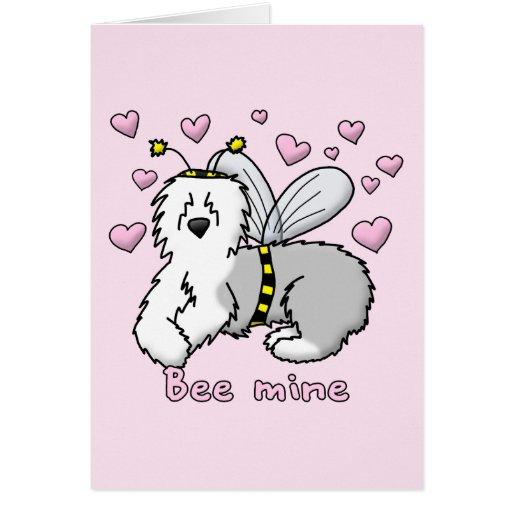 Bee Mine Old English Sheepdog Greeting Card