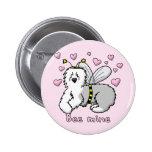 Bee Mine Old English Sheepdog Pinback Button