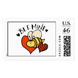 """Bee Mine"" Postage Stamp"