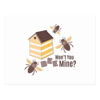 Bee Mine Postcard