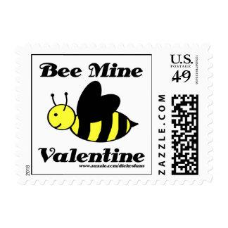 Bee Mine Small Postage Stamp