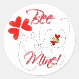 BEE MINE VALENTINE by SHARON SHARPE Classic Round Sticker