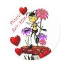 Bee mine valentine Sticker