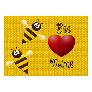 Bee Mine Valentine's Day Card Large Business Cards (Pack Of 100)