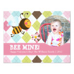 Bee Mine   Valentine's Day Personalized Announcements