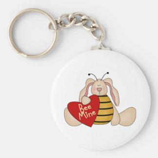 Bee Mine Valentine's Day Keychain