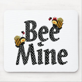 Bee Mine Valentine's Day Mouse Pad