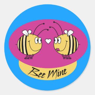 Bee Mine Valentines Stickers