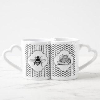 Bee Mine Vintage Honeybee and Hive Couples Mug