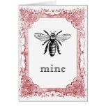 Bee Mine Vintage Valentine Greeting Cards