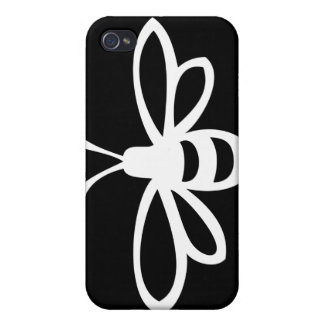 Bee (Monochrome) Covers For iPhone 4