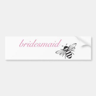 Bee my bridesmaid bumper sticker