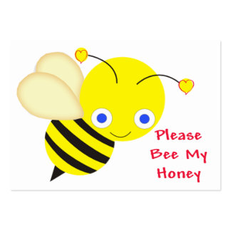 Bee My Honey Cards to Hand Out for Kids Large Business Cards (Pack Of 100)
