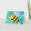 Mother's Day Card - Beatrix the Bee has been busy gathering honey, she has a bucketful of honey now, what a fruitful day for her! :D A sweet card for a mum who labors with love for her family!