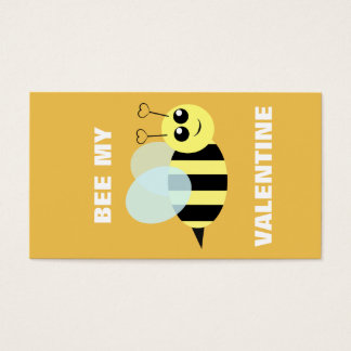 Bee My Mini Valentine Business Card