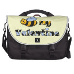 Bee my Valentine Bags For Laptop