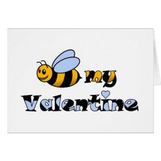 Bee my Valentine Greeting Card