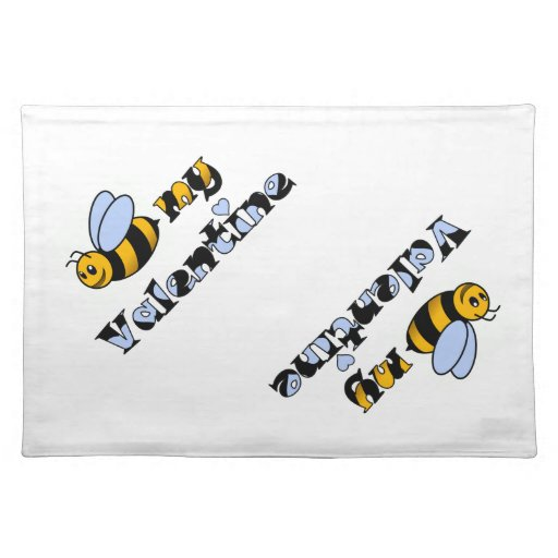 Bee my Valentine Cloth Placemat