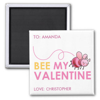 Bee My Valentine Magnets