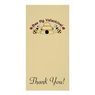 Bee My Valentine Custom Photo Card
