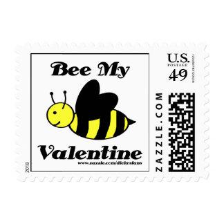 Bee My Valentine Postage - POSTCARD
