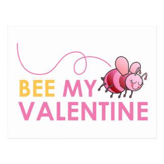 Bee My Valentine Post Cards
