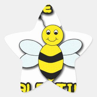 Bee My Valentine Star Sticker