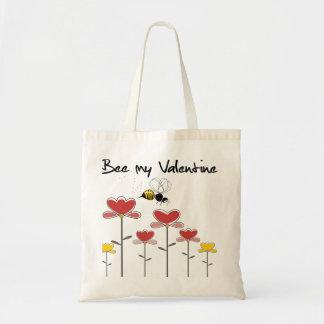 Bee my Valentine Tote Bag