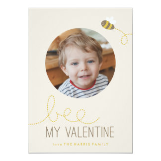 Bee My Valentine Valentine's Day Card