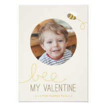 Bee My Valentine Valentine's Day Card Custom Invites