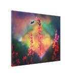 Bee N Wildflowers Diamond Earth Tones Gallery Wrapped Canvas