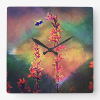 Bee N Wildflowers Diamond Earth Tones Clock