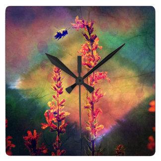 Bee N Wildflowers Diamond Earth Tones Clock