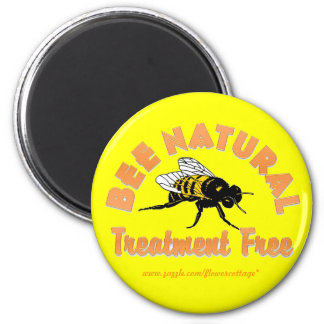 Bee Natural Treatment Free 2 Inch Round Magnet