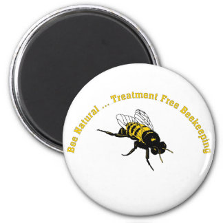 Bee Natural ... Treatment Free Beekeeping 2 Inch Round Magnet
