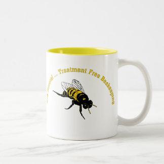 Bee Natural ... Treatment Free Beekeeping Two-Tone Coffee Mug