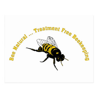 Bee Natural ... Treatment Free Beekeeping Postcard