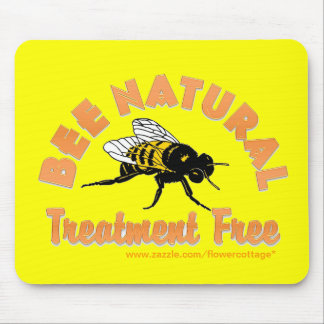 Bee Natural Treatment Free Mouse Pad