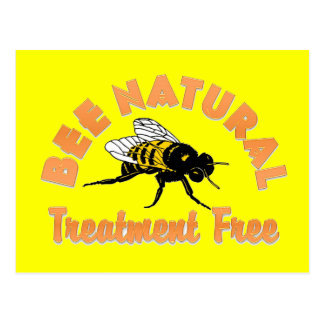 Bee Natural Treatment Free Postcard