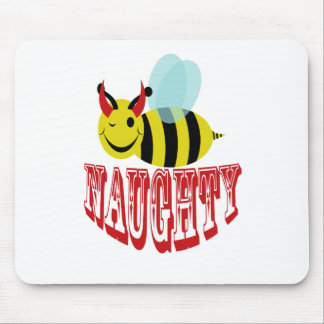bee naughty mouse pad